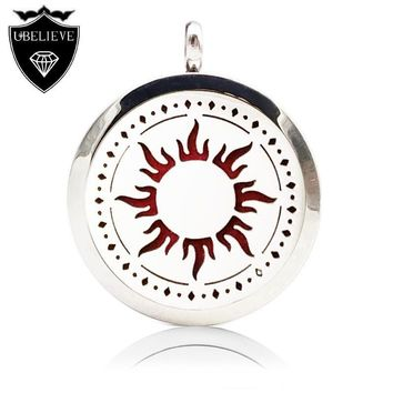 U Believe 2016 New 316L Stainless Steel Perfume Locket Necklace Magnetic Aromatherapy Locket Pendant(Send Chain,Felt Pad)