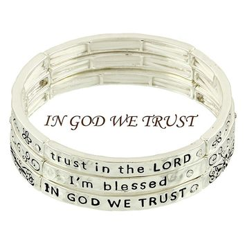 "*""In God We Trust"" Stackable Bracelets"