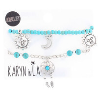 Karyn In La Turquoise Dream Catcher Anklet Pack