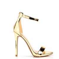 Nancy Fancy Satin Heel - Gold