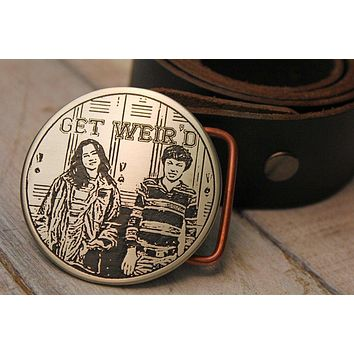 "Freaks and Geeks ""Get Weird"" Belt Buckle"