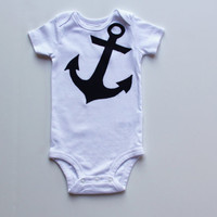 Nautical Anchor Shirt, Anchor Baby Bodysuit, Anchors Away Shirt, Sailor Shirt, Maritime Shirt, Boating Shirt