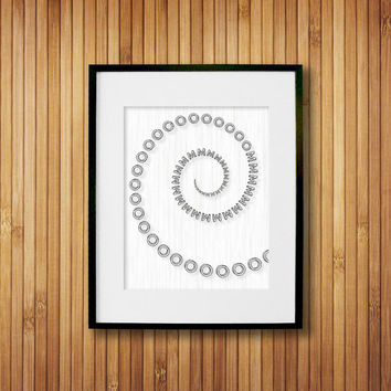 OM Yoga Art Print - Fitness Studio Decor - Black & White Art - Yoga Wall Art - Om Wall Decor 8x10 Wall Art