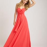 Chiffon Sweetheart Neckline Brides Wedding Bridesmaid Dress - Basadress.com