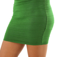 Banded With Love Skirt: Green