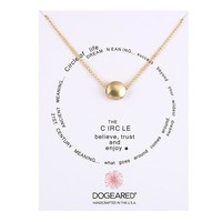 Gold Ball Pendant Card Alloy Clavicle Pendant Necklace  171208