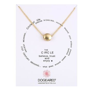 Gold Ball Card Alloy Clavicle Pendant Necklace   171212