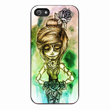 Rainbow Day of The Dead Girl for iPhone 4 Case *01*