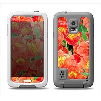 The Red and Yellow Watercolor Flowers Samsung Galaxy S5 LifeProof Fre Case Skin Set