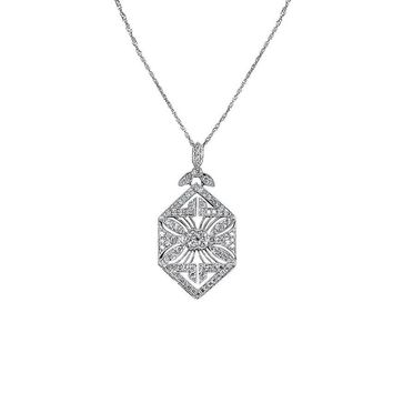 14K White Gold The Whitley Pendant