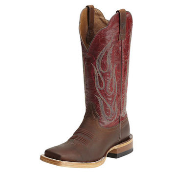 Ariat Women's La Fuega Western Cowboy Boots Brown Red 10012804