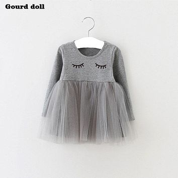 Lolita Baby Girls Summer Dress Infant Party Dress For 4-24M Toddler Girl Brithday Baptism Clothes Double Formal Dresses