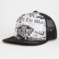 Vans Classic Patch Plus Boys Trucker Hat Black/White One Size For Women 26569112501