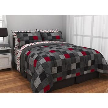 Latitude Geo Blocks Reversible Bed in a Bag Bedding Set - Walmart.com