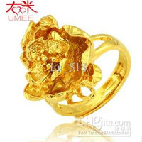 24K gold plated , you can adjust the size of the Wedding Ring JZ1410