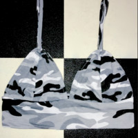 SWEET LORD O'MIGHTY! CAMO BABY BRALET IN GREY