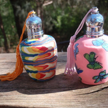 Roll On Perfume - Butterflies or Tie Dye Glass Bottle - Your Choice