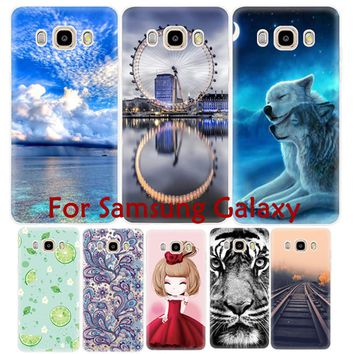 Cute Animal Tiger Painted Soft TPU Phone Case Cover for Samsung Galaxy J5 J7 J3 S7 S6 edge plus S6 S5 S3 Note 5 4 3 Grand Prime