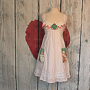 Babydoll Dress | Women's Clothing | Junior Clothes | Repurposed Upcycled Refashioned