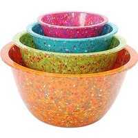 Recycled Confetti Mixing Bowls at the Bibelot Shops