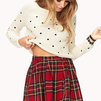 Sweet Polka Dot Cropped Sweater
