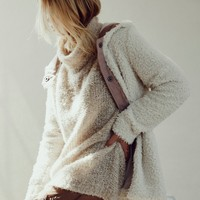 Free People Sherpa and Knit Liner Coat