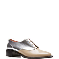 Two-Tone Leather Oxford Brogues