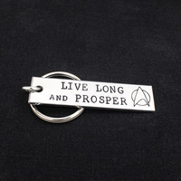 Live Long And Prosper - Star Trek - Aluminum Key Chain