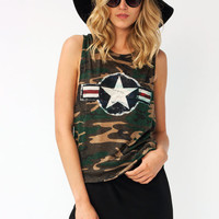 air-force-graphic-camo-tank GREENNAVY - GoJane.com