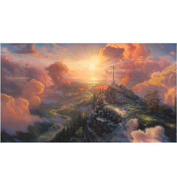 5D Diamond Painting Cross on the Mountain Kit