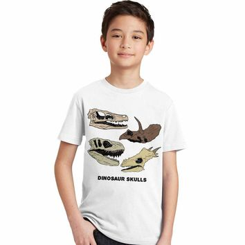 2017 cartoon dinosaur kids t shirt boys summer children tshirt dinossauro print T-shirts for teen boys roupas infantis menino