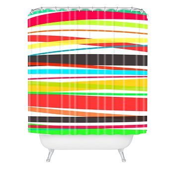Rebecca Allen Color Parade Shower Curtain