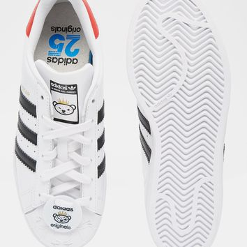 adidas Originals Superstar With Nigo Bear Tag Trainers at asos.com