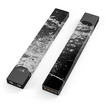 Skin Decal Kit for the Pax JUUL - Black and White Grungy Marble Surface