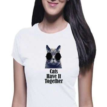 Cats Have It Together, Women's Shirt, Cat Shirt, Crazy Cat, Boyfriend Tee, Casual Shirt, Classic Tee, Funny Shirt, Joke Shirt, Trendy Tee
