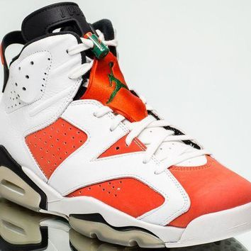 Air Jordan 6 Retro Gatorade Aj6 Vi New Summit White Team Orange Black 384664 145