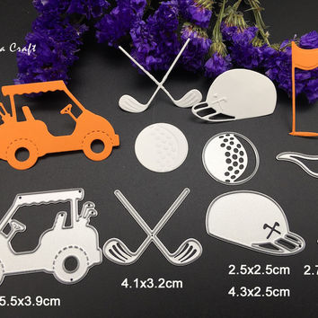 5pc Metal cutting dies for Scrapbook album paper craft home decor embossing stencil template steel steel golf die cut