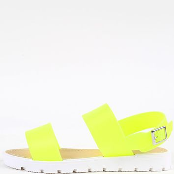 Wild Diva Lounge Jenner-03 Jelly Neon Sandals