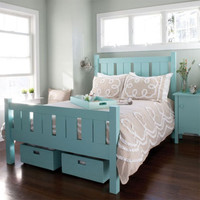 Shutter Bed in Choice of Finish