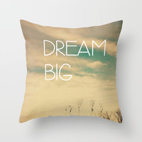 Dream Big Throw Pillow by Olivia Joy StClaire