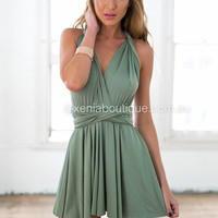 The Perfect Date Multiway Dress (Khaki)