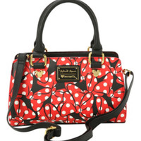 Disney Loungefly Minnie Mouse Bows Satchel Bag