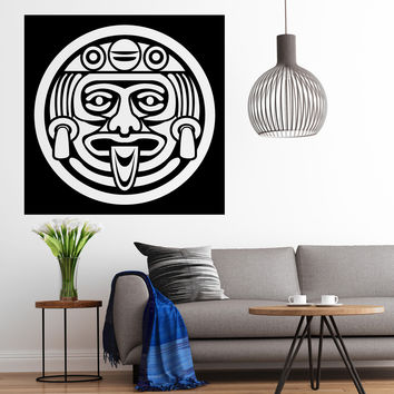 Vinyl Decal Wall Sticker Aztec Face Mask Cult of the Maya Gods Unique Gift (n720)