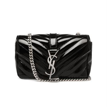SAINT LAURENT | Baby Quilted Satchel | brownsfashion.com | The Finest Edit of Luxury Fashion | Clothes, Shoes, Bags and Accessories for Men & Women