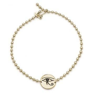 Alex and Ani Eye of Horus Beaded Bracelet - Gold Filled
