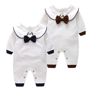 Newborn Baby Clothes Long-Sleeved Cotton Rompers 12