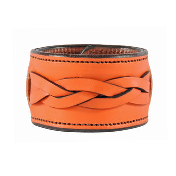 Memorial Weekend Plaited Leather Cuff