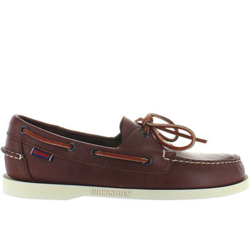 Sebago Docksides- Brown Leather Boat Shoe