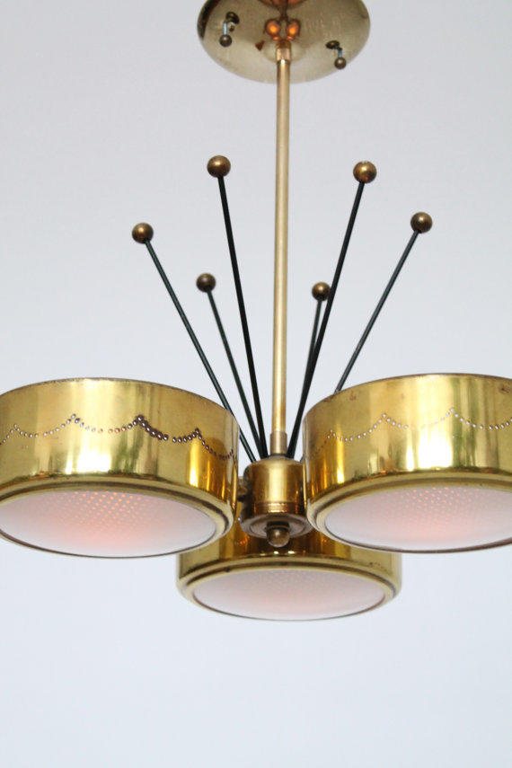 Gerald Thurston Brass Chandelier For From Vintagelampden