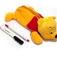 New Disney Pooh Bear Plush Doll pencil case bag Pouch